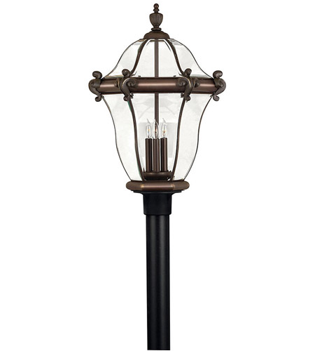Hinkley 2447CB San Clemente 3 Light 27 inch Copper Bronze Post Lantern, Post Sold Separately photo