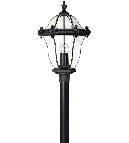 Hinkley 2447MB San Clemente 3 Light 26 inch Museum Black Outdoor Post Mount, Post Sold Separately photo