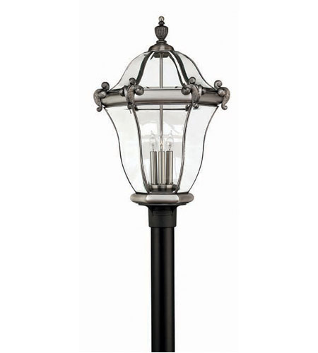 Hinkley San Clemente 3 Light X Large Post Lantern (Post Sold Separately) in Olde Iron 2447OI photo