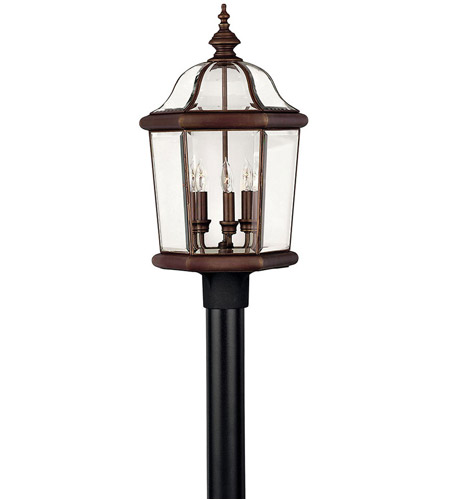 Hinkley 2451CB Augusta 3 Light 23 inch Copper Bronze Post Lantern, Post Sold Separately photo
