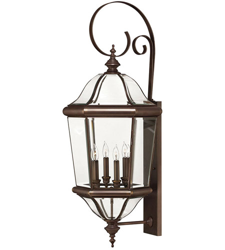 Hinkley Lighting Augusta 4 Light Outdoor Wall Lantern in Copper Bronze 2456CB photo
