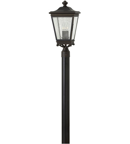Hinkley 2461OZ Lincoln 3 Light 21 inch Oil Rubbed Bronze Outdoor Post Mount, Heritage photo
