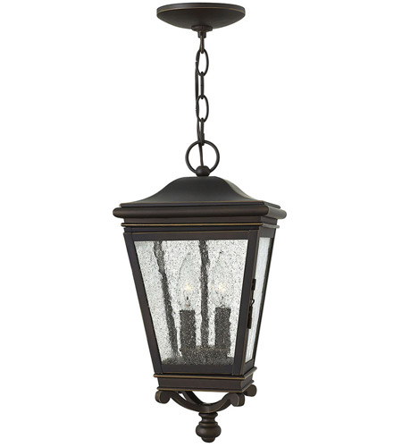Hinkley Lighting Lincoln 2 Light Outdoor Hanging Lantern in Oil Rubbed Bronze 2462OZ