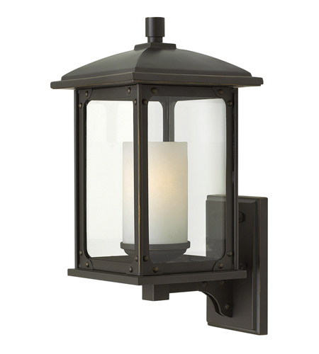 Hinkley 2470OZ-LED Stanton 1 Light 16 inch Oil Rubbed Bronze Outdoor Wall Lantern, Clear Glass photo