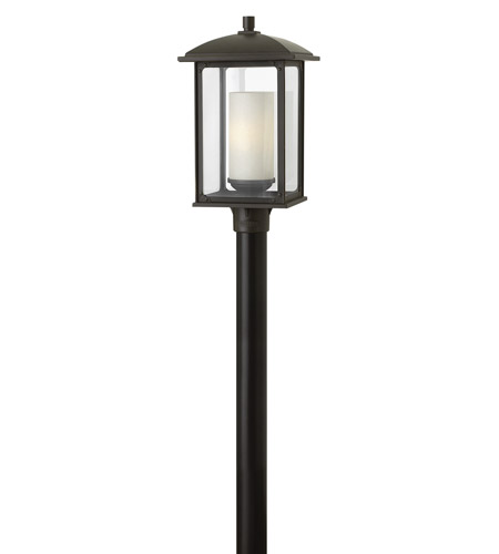 Hinkley 2471OZ Stanton 1 Light 21 inch Oil Rubbed Bronze Outdoor Post Lantern in Incandescent photo