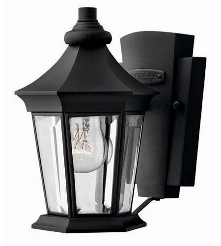 Hinkley Lighting Senator 1 Light Outdoor Wall Lantern in Black 2506BK photo