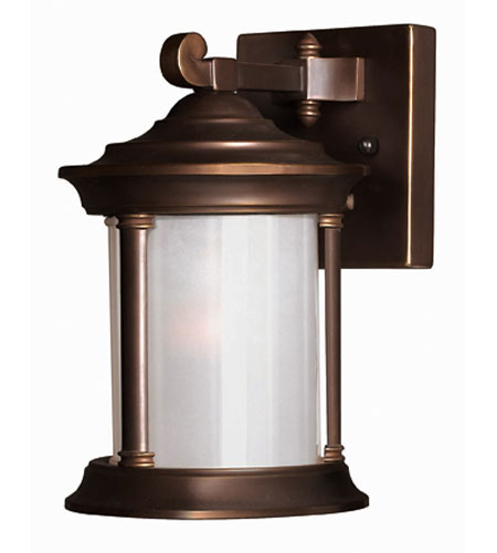 Hinkley Lighting Hanna 1 Light Outdoor Wall Lantern in Metro Bronze 2540MT-ESDS
