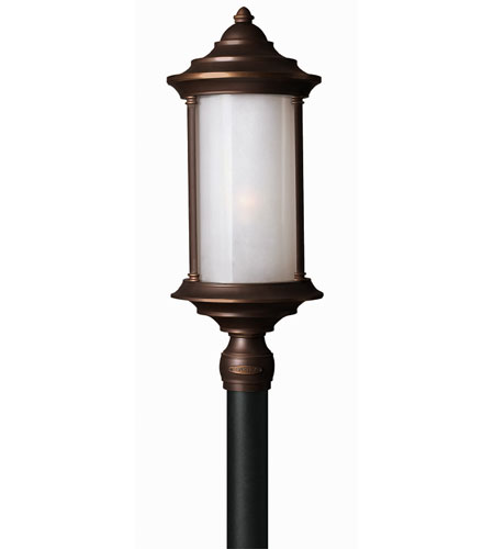 Hinkley Lighting Hanna 1 Light Post Lantern (Post Sold Separately) in Metro Bronze 2541MT-ES