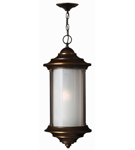 Hinkley Lighting Hanna 1 Light Outdoor Hanging Lantern in Metro Bronze 2542MT-DS