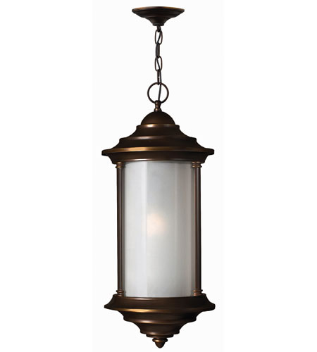 Hinkley Lighting Hanna 1 Light Outdoor Hanging Lantern in Metro Bronze 2542MT-ES