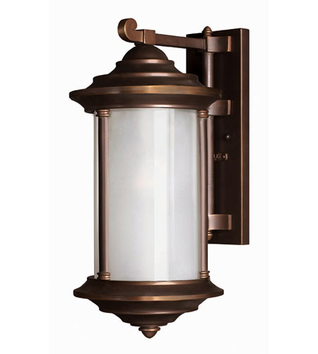 Hinkley Lighting Hanna 1 Light Outdoor Wall Lantern in Metro Bronze 2544MT-ES
