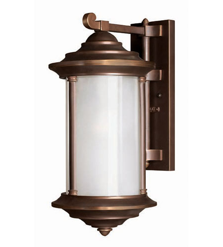 Hinkley Lighting Hanna 1 Light Outdoor Wall Lantern in Metro Bronze 2544MT photo