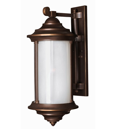 Hinkley Lighting Hanna 1 Light Outdoor Wall Lantern in Metro Bronze 2545MT-DS