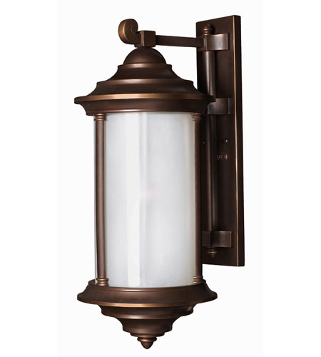 Hinkley Lighting Hanna 1 Light Outdoor Wall Lantern in Metro Bronze 2545MT-ES photo