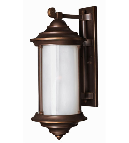 Hinkley Lighting Hanna 1 Light Outdoor Wall Lantern in Metro Bronze 2545MT-ESDS photo