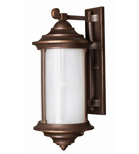 Hinkley Lighting Hanna 1 Light Outdoor Wall Lantern in Metro Bronze 2545MT photo