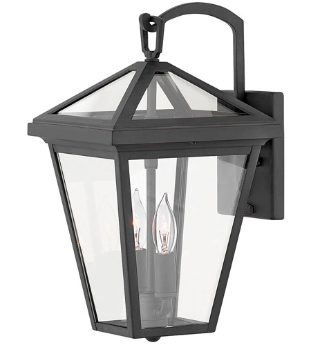 Hinkley 2560MB Alford Place 2 Light 14 inch Museum Black Outdoor Wall Mount in Incandescent, Open Air photo