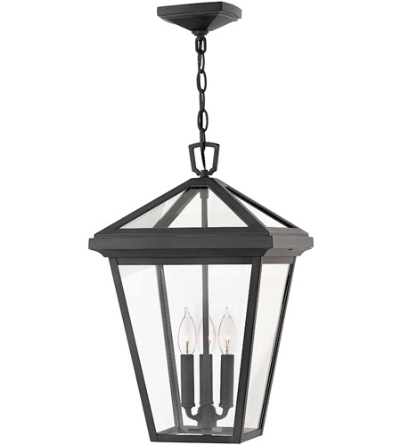 Hinkley 2562MB Alford Place 3 Light 12 inch Museum Black Outdoor Hanging photo
