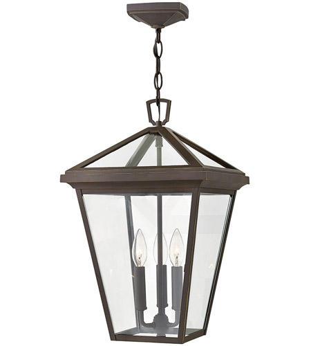Hinkley 2562OZ Alford Place 3 Light 12 inch Oil Rubbed Bronze Outdoor Hanging Light in Incandescent, Open Air photo