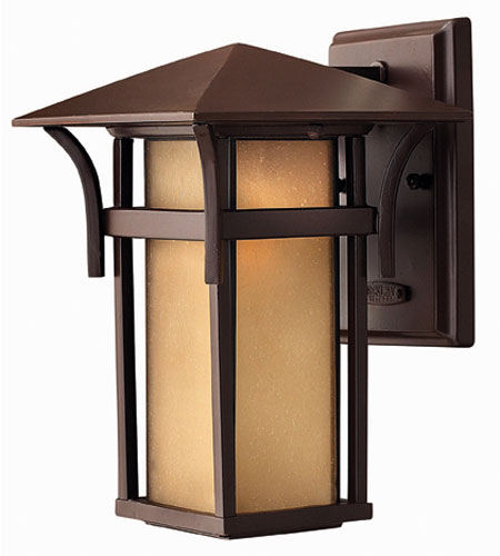 Hinkley Lighting Harbor 1 Light Outdoor Wall Lantern in Anchor Bronze 2570AR-DS