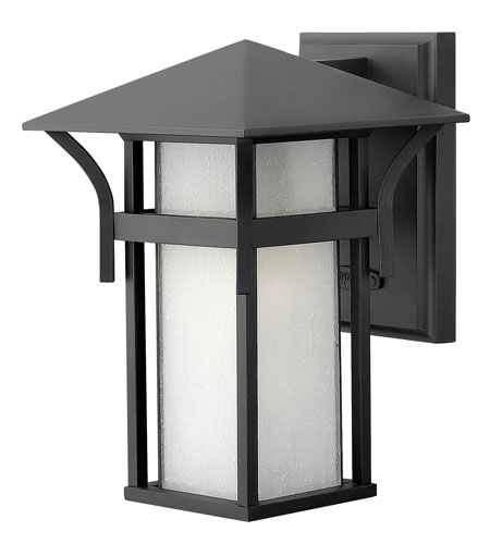 Hinkley Lighting Harbor 1 Light Outdoor Wall Lantern in Satin Black 2570SK-DS photo