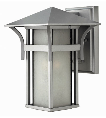 Hinkley Lighting Harbor 1 Light Outdoor Wall Lantern in Titanium 2570TT-ES photo