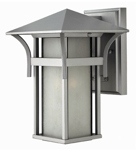 Hinkley Lighting Harbor 1 Light Outdoor Wall Lantern in Titanium 2570TT-ESDS