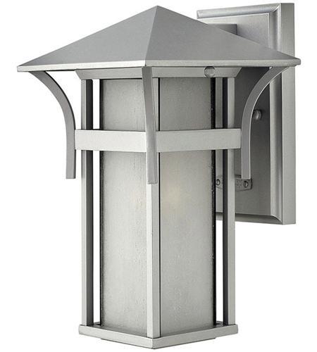 Hinkley Lighting Harbor 1 Light Outdoor Wall Lantern in Titanium 2570TT
