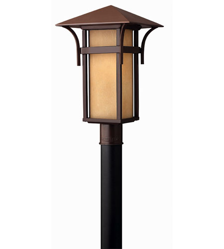 Hinkley Lighting Harbor 1 Light Post Lantern (Post Sold Separately) in Anchor Bronze 2571AR-ES