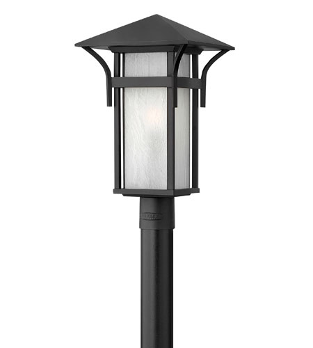 Hinkley Lighting Harbor 1 Light Post Lantern (Post Sold Separately) in Satin Black 2571SK-ES