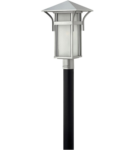 Hinkley 2571TT-LED Harbor LED 20 inch Titanium Outdoor Post Mount, Seedy Glass, Post Sold Separately photo