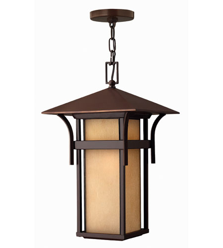 Hinkley Lighting Harbor 1 Light Outdoor Hanging Lantern in Anchor Bronze 2572AR-ES photo