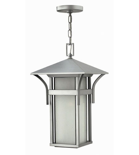 Hinkley Lighting Harbor 1 Light Outdoor Hanging Lantern in Titanium 2572TT-ESDS