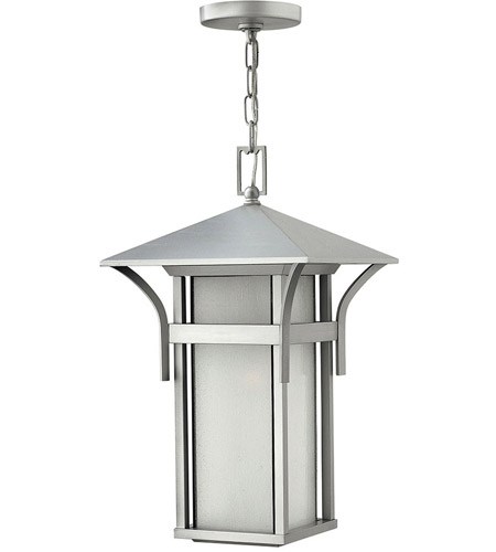 Hinkley 2572TT-LED Harbor LED 11 inch Titanium Outdoor Hanging Lantern in Etched Seedy photo