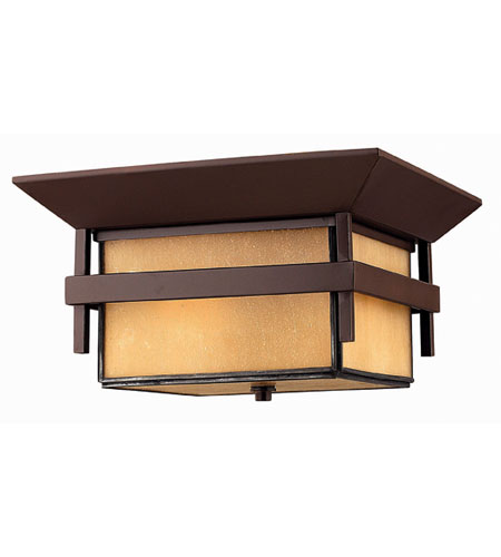 Hinkley Lighting Harbor 2 Light Outdoor Flush Lantern in Anchor Bronze 2573AR-ES photo