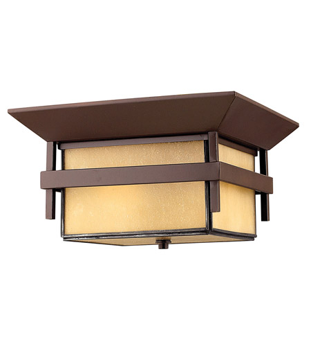 Hinkley Lighting Harbor 1 Light GU24 CFL Outdoor Flush Mount in Anchor Bronze 2573AR-GU24 photo