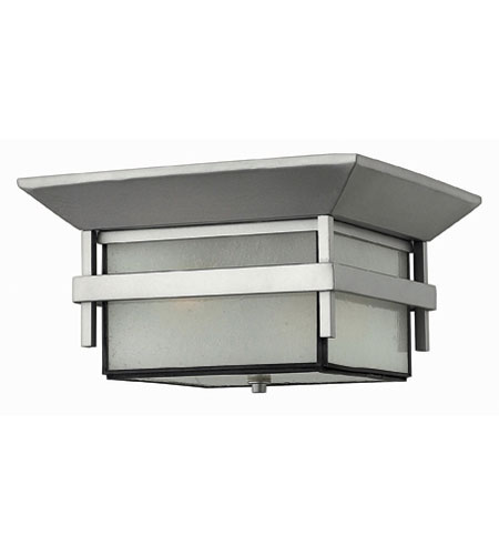 Hinkley Lighting Harbor 2 Light Outdoor Flush Lantern in Titanium 2573TT-ES