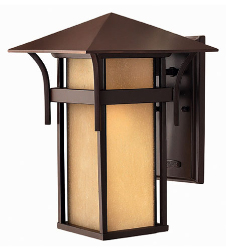 Hinkley Lighting Harbor 1 Light Outdoor Wall Lantern in Anchor Bronze 2574AR-ESDS