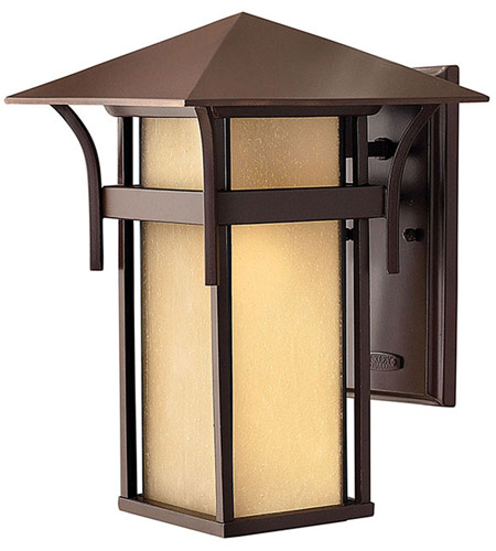 Hinkley Lighting Harbor 1 Light Outdoor Wall Lantern in Anchor Bronze 2574AR