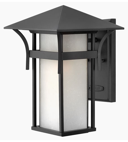 Hinkley Lighting Harbor 1 Light Outdoor Wall Lantern in Satin Black 2574SK-ES