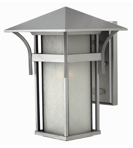 Hinkley Lighting Harbor 1 Light Outdoor Wall Lantern in Titanium 2574TT-DS photo