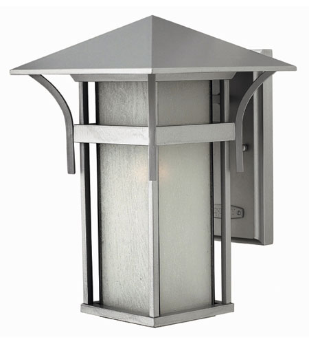 Hinkley Lighting Harbor 1 Light Outdoor Wall Lantern in Titanium 2574TT-ES