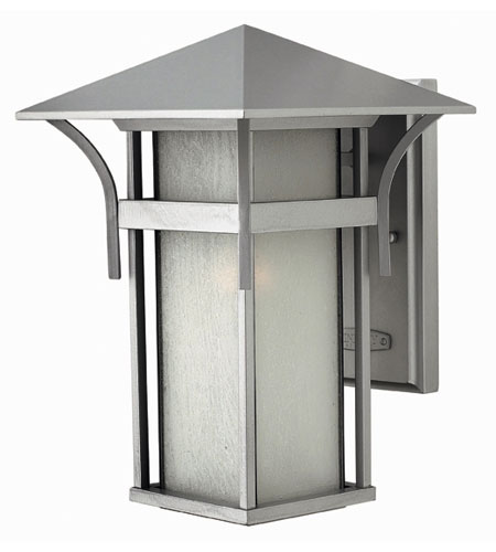 Hinkley Lighting Harbor 1 Light Outdoor Wall Lantern in Titanium 2574TT-ESDS