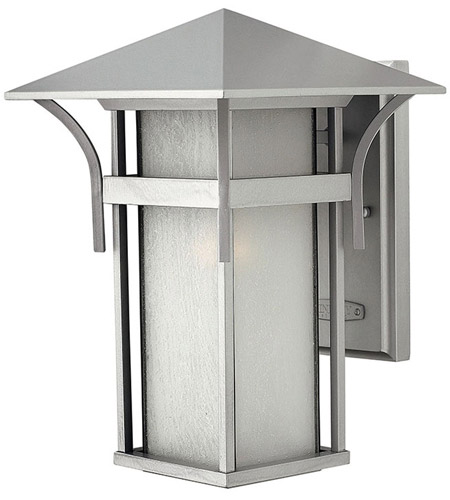 Hinkley Lighting Harbor 1 Light Outdoor Wall Lantern in Titanium 2574TT