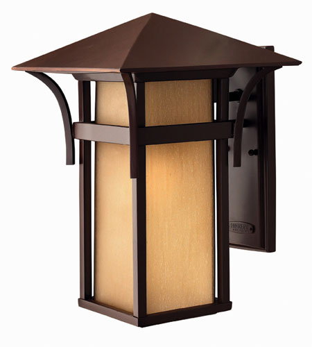 Hinkley Lighting Harbor 1 Light Outdoor Wall Lantern in Anchor Bronze 2575AR-DS photo
