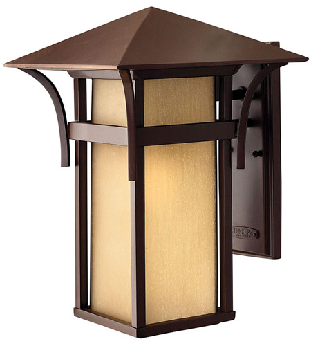Hinkley Lighting Harbor 1 Light Outdoor Wall Lantern in Anchor Bronze 2575AR