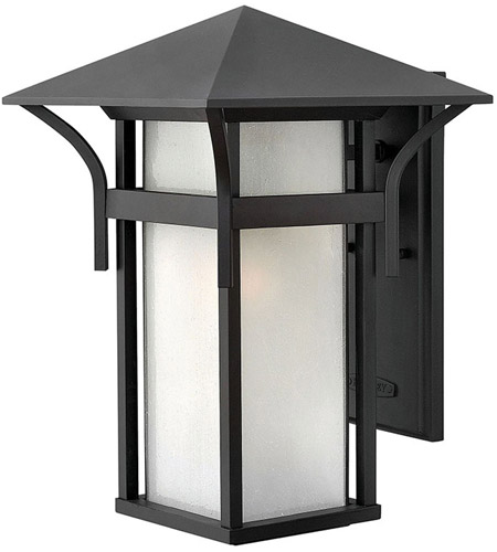 Hinkley Lighting Harbor 1 Light Outdoor Wall Lantern in Satin Black 2575SK-LED