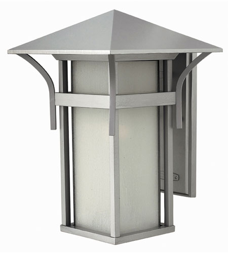 Hinkley Lighting Harbor 1 Light Outdoor Wall Lantern in Titanium 2575TT-DS