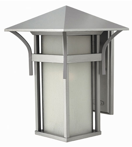 Hinkley Lighting Harbor 1 Light Outdoor Wall Lantern in Titanium 2575TT-ES