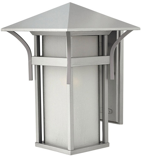 Hinkley 2575TT-LED Harbor LED 16 inch Titanium Outdoor Wall Lantern in Etched Seedy photo